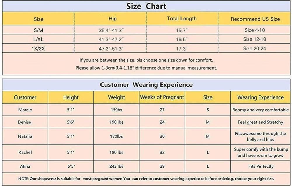 Surewin Womens Seamless Maternity Shapewear for Dress High Waist Over Bump Pregnancy Underwear