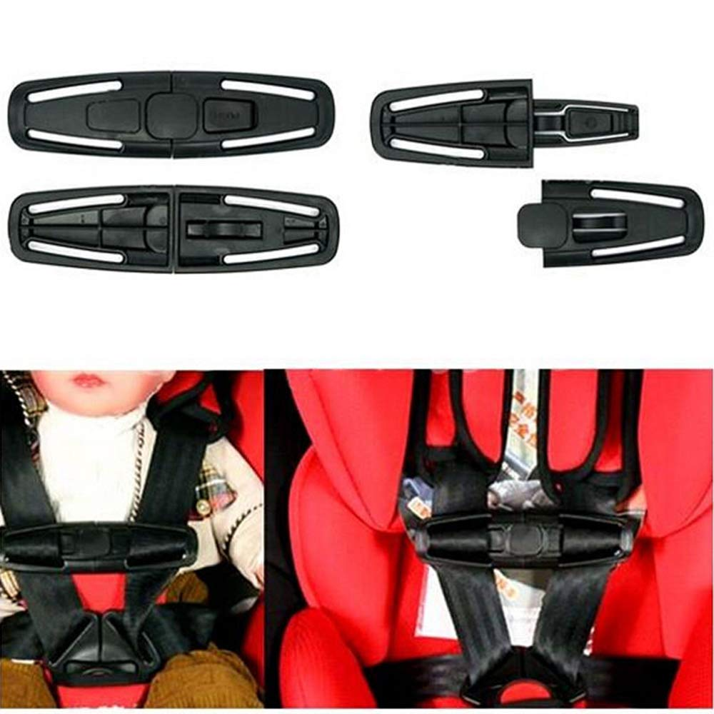 1pcs Black Car Baby Safety Seat Clip Fixed Lock Buckle Safe Belt Strap Latch Harness Chest Child Toddler Clamp Blppldyci