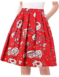 80421daa36e A-Line Pleated Vintage Skirts for Women