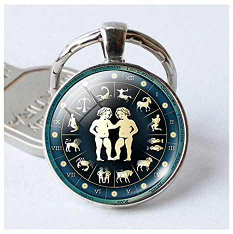 Amazon com: Womens Mens Keychain 12 Constellation Jewelry