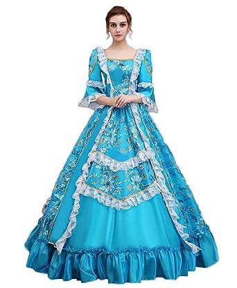 Zukzi Womenu0027s Floor Length Victorian Dress Costume Masquerade Ball Gowns X715 Medium  sc 1 st  Amazon.com & Amazon.com: Zukzi Womenu0027s Floor Length Victorian Dress Costume ...