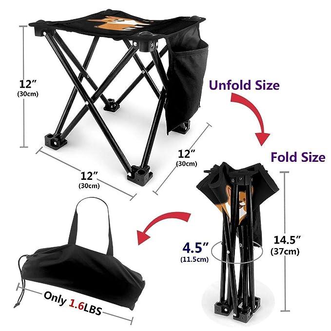 liang4268 Taburete de Camping Cute Corgi Lightweight Folding ...