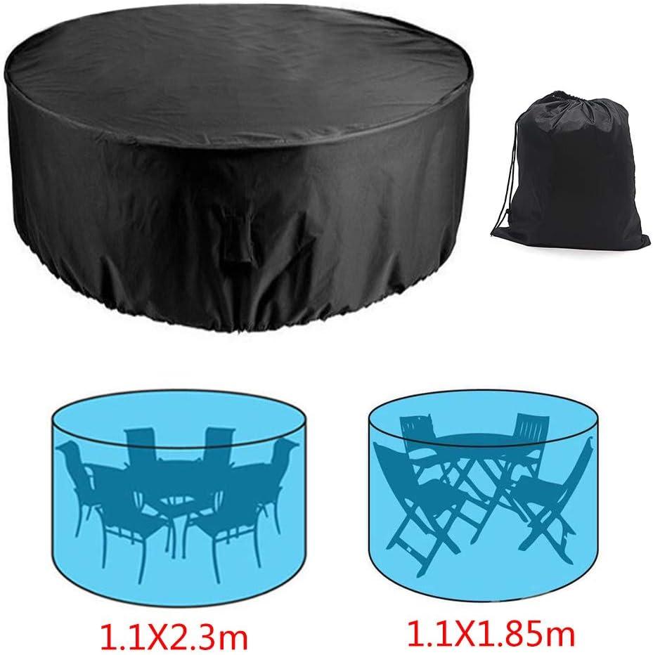 Redondas tama/ño Grande Resistentes al Viento antiUV Impermeables Juego de 4 Fundas de Mesa para Muebles de jard/ín Ruilasago