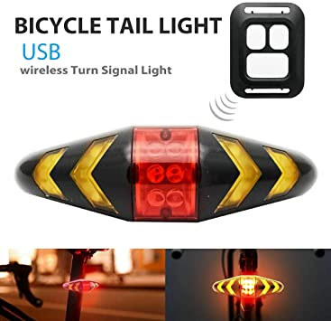 1 luz trasera de bicicleta LED con cable USB y mando a distancia ...