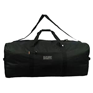 "Heavy Duty Cargo Duffel Large Sport Gear Drum Set Equipment Hardware Travel Bag Rooftop Rack Bag (30"" x 15"" x 15"", Black)"