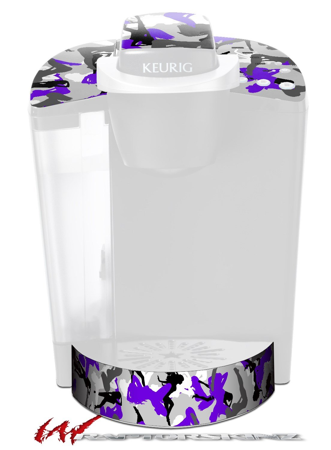 Sexy Girl Silhouette Camo Purple - Decal Style Vinyl Skin fits Keurig K40 Elite Coffee Makers (KEURIG NOT INCLUDED)