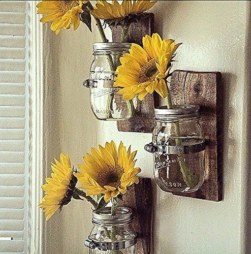 Amazon 3 Country Style Wall Vases Cottage Chic Mason Jar