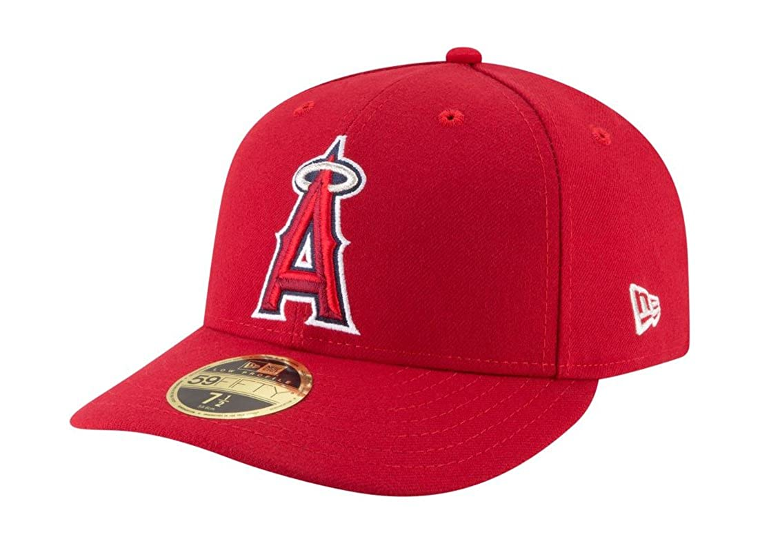 bde493d62a5d7 ... inexpensive new era 59fifty hat mlb anaheim angels low profile crown  game baseball red cap at