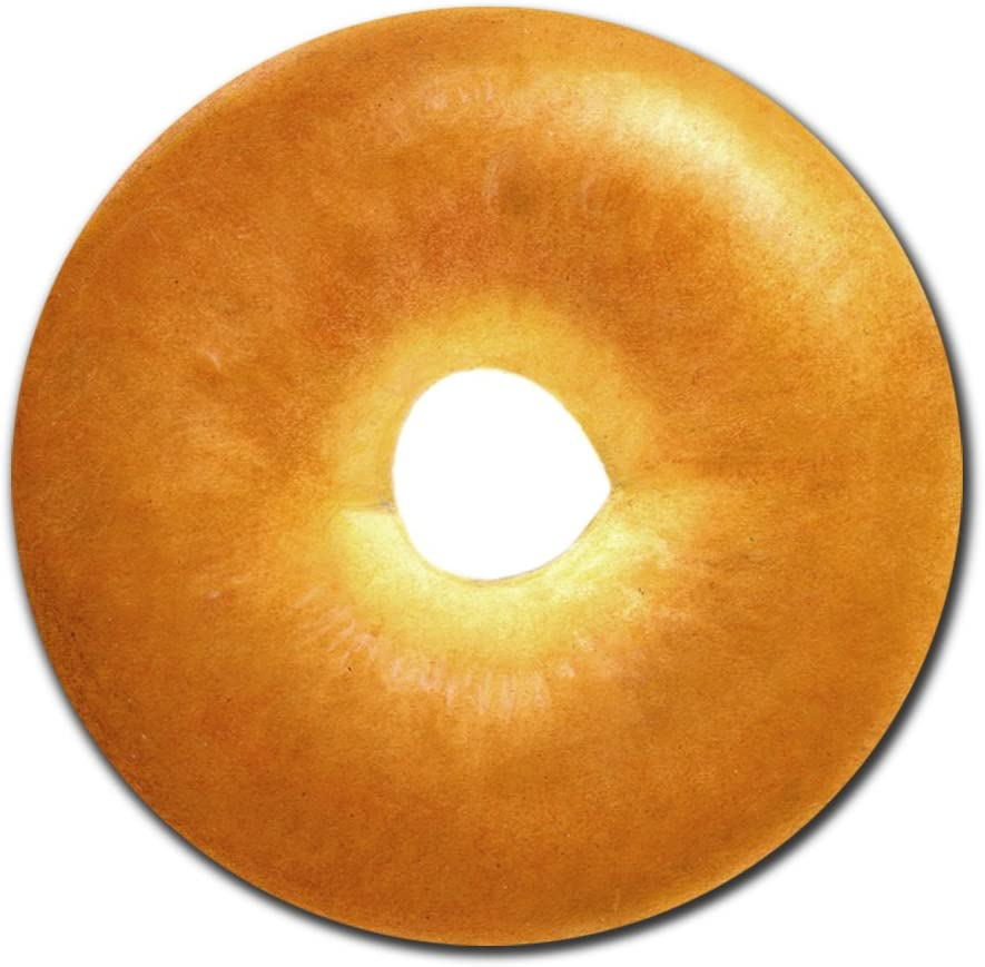 Delicious Bagel Round Mouse Pad