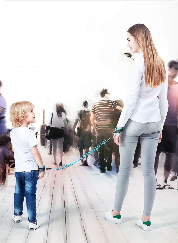 Enfant Souple Dragonne de s/écurit/é pour Enfant Harnais Marche /à la Main Ceinture connecteur Rotatif pour Enfants B/éb/és 1,5 m Green Enfants /Perdu Poignet Link chenyu Anti/