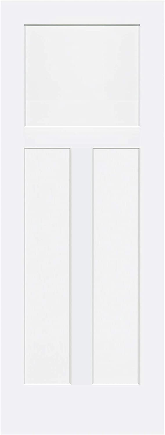 1+2 Panels Door, Kimberly Bay Interior Slab Shaker White (32x80)