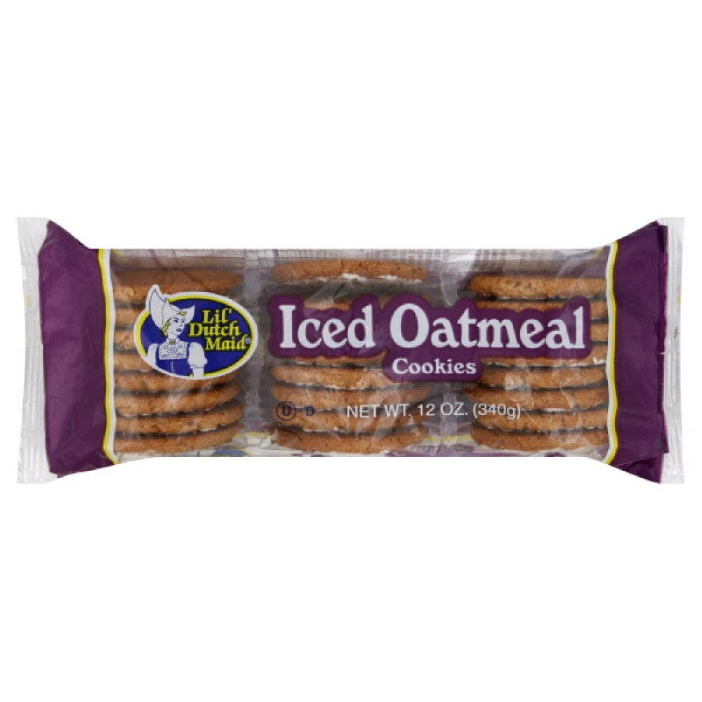 Little Dutch Maid Iced Oatmeal Cookie, 12-Ounce (Pack of 12) by Little Dutch Maid