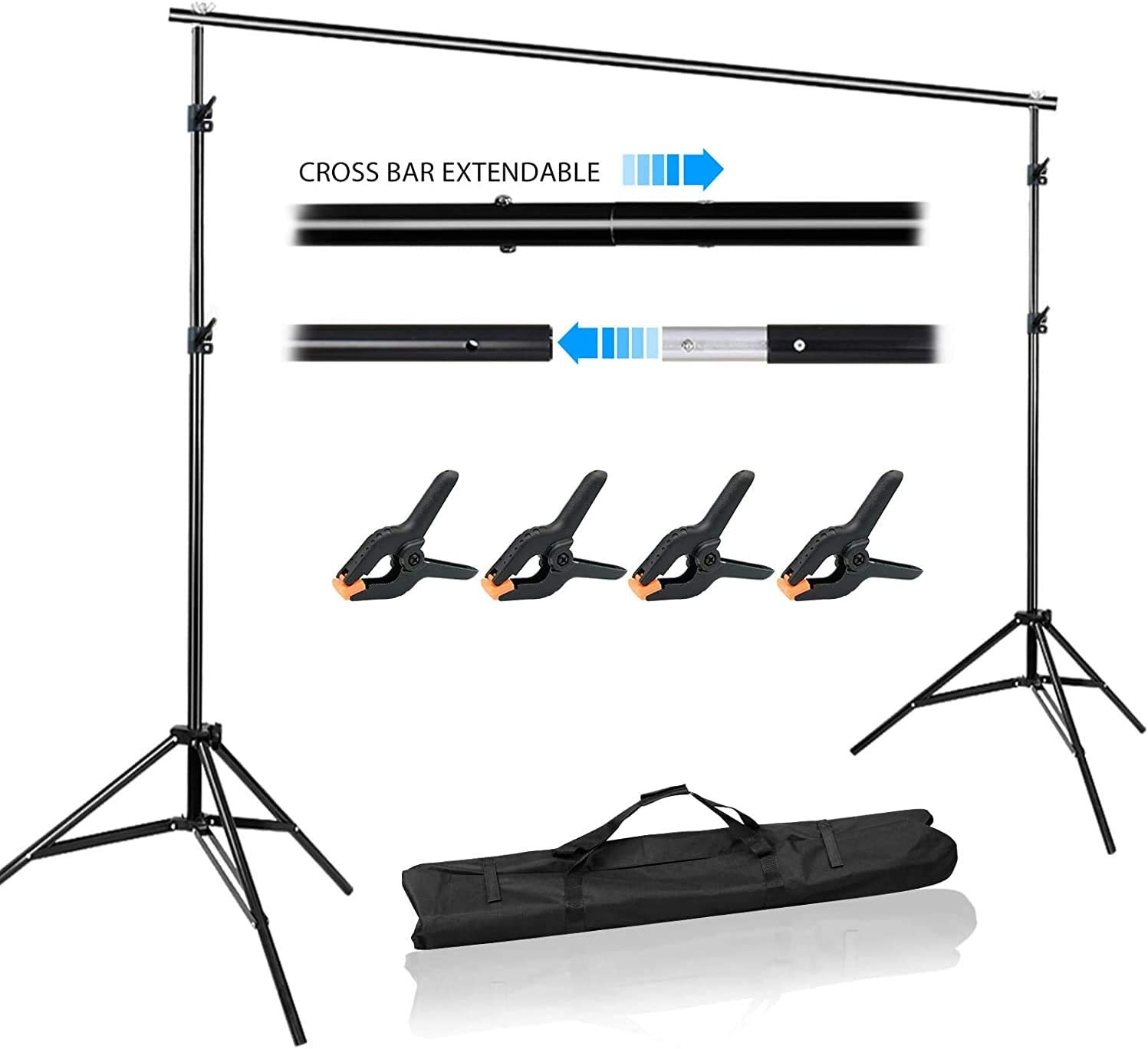 Background Stand Photo Video Studio Background Backdrop Stand Kit,2x2m Photography Support System,Product Photography and Video Shooting