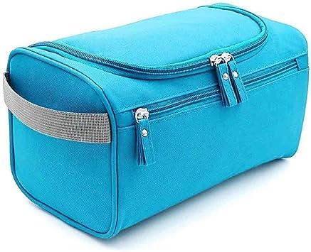 - Mens/_Pouch/_L BLU Multicolor Azul Claro Vinkl Neceser de Tela para Colgar 25 x 13,5 x 15 cm