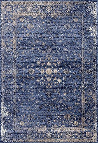Persian-Rugs 2817 Distressed Blue 8 x 10 Area Rug Carpet Large New - Actual size: 7 feet 10 inches Width by 10 Feet 6 inches Length Constructed with our customers in mind for a long lasting beautiful rug. Non shedding for long last value. - living-room-soft-furnishings, living-room, area-rugs - 61RruECM7bL -