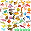 Ocean Sea Animal, 52 Pack Assorted Mini Vinyl Plastic Animal Toy Set, Funcorn Toys Realistic Under The Sea Life Figure Bath Toy for Child Educational Party Cake Cupcake Topper,Octopus Shark Otter from Funcorn Toys