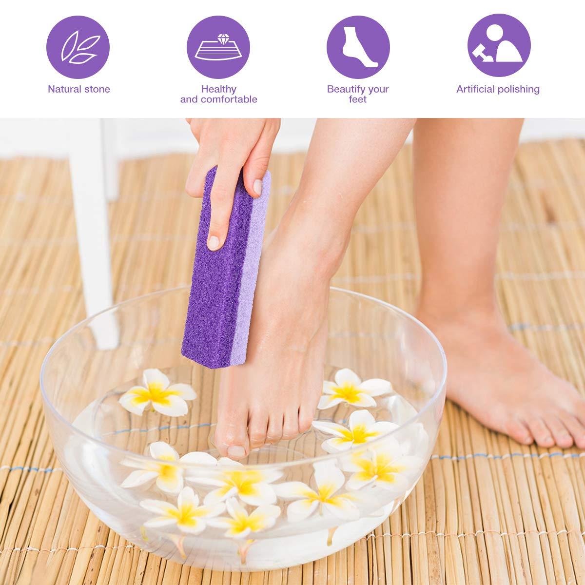 Foot Exfoliator Pedicure Tool Foot Callus Remover Scrubber 2pcs (Purple)