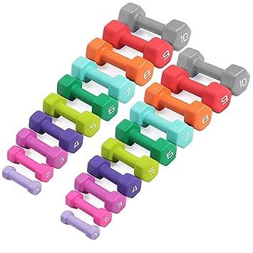 Cap Barbell SDN4 colores, juego de mancuernas hexagonales de neopreno – 1 A 10 kg