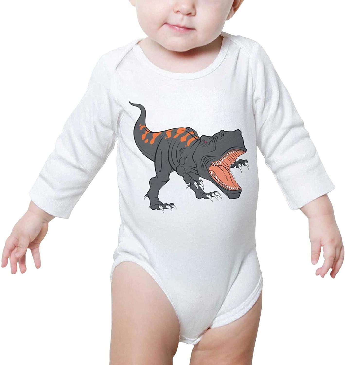 Dinosaur Toys Bicycle Long Sleeve Neutral Baby Onesie Bodysuits 0-3 Months for Infant Boys Girls
