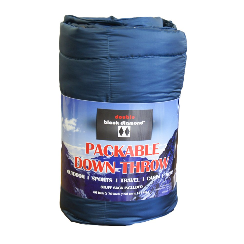 Black Diamond Double Packable Down Throw with Stuff Sack, 60 x 70