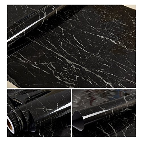 - Mekingstudio 24x20 Inch Photography Photo Video Studio Self-adhesive Granite Marble Texture Background for Photo Props - Black
