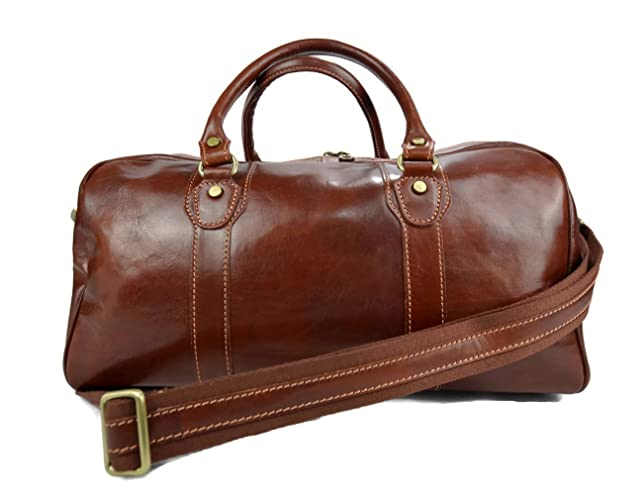 Image Unavailable. Image not available for. Color  Leather duffle bag ... 072d533fa6feb