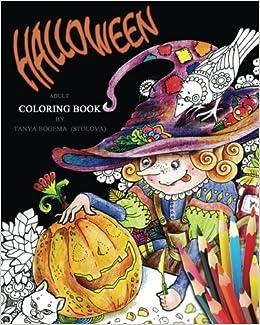 Amazon Halloween Adult Coloring Book 9781539710059 Tatiana Bogema Stolova Books
