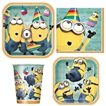 Dispicable Me 2 Party Supply Pack ~ Plates, Napkins, Cups and Tablecloth