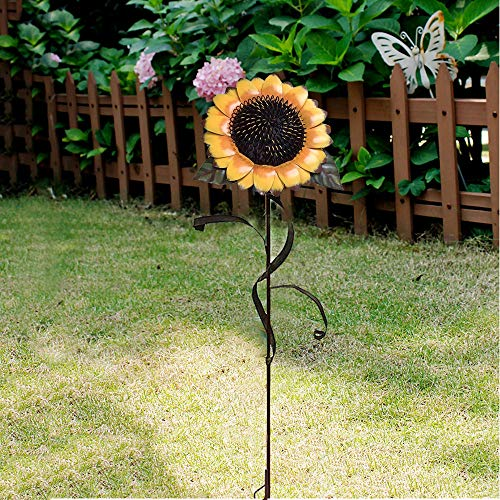 (Y&K Decor Garden Sunflower Stake Metal Yard Decor 48