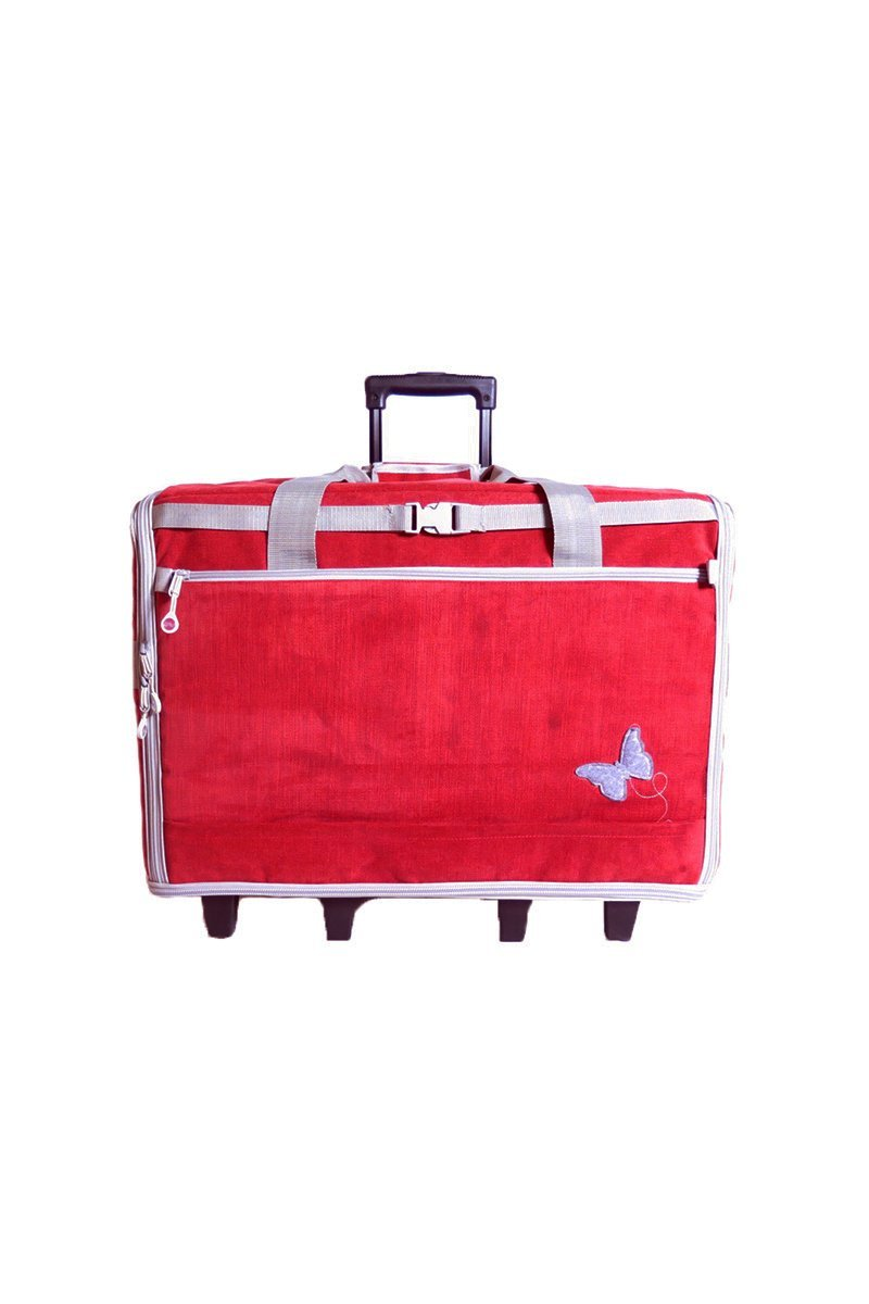 BlueFig DS23 Wheeled Travel Bag in Butterfly Red