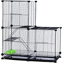 Modular Add-Up Small Animal Cages Series CW63088 (Black Cage-Tower 1)