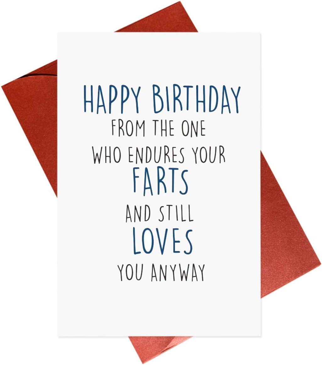 Happy Birthday Card,Funny Fart Cards For Girlfriend Boyfriend Wife Husband