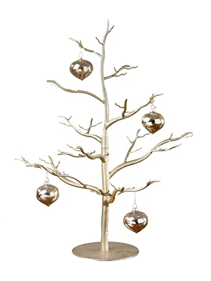 antique silver ornament tree 26h jewelry display stand - Antique Silver Christmas Decorations