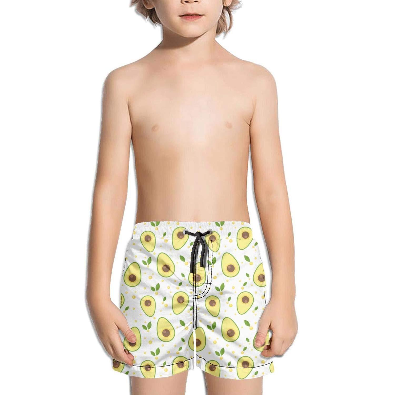 Lenard Hughes Boys Quick Dry Beach Shorts with Pockets Avocado Love Swim Trunks for Summer by Lenard Hughes (Image #1)