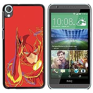 EJOY---Cubierta de la caja de protección la piel dura para el / HTC Desire 820 / --Flash Superhéroe