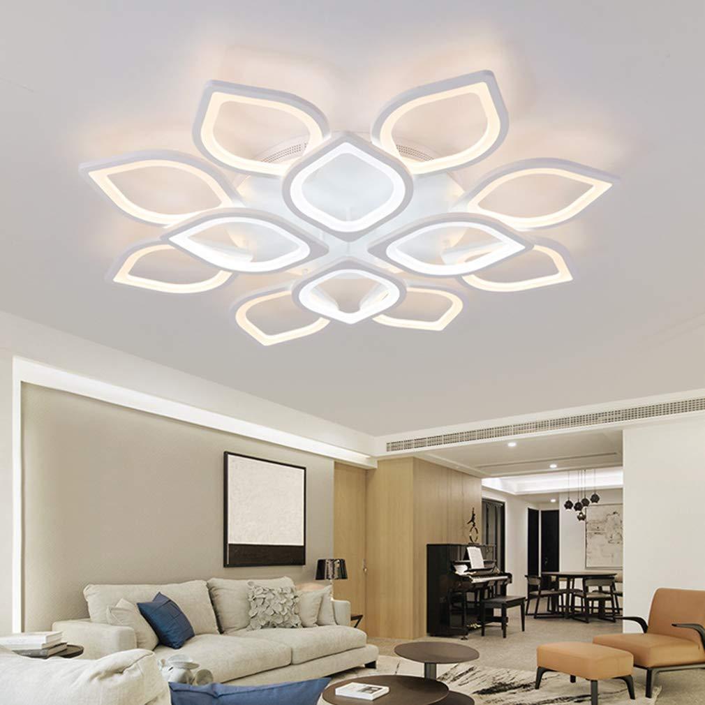 /_Heads QLIGHA Plafoniere Moderno LED Lampada da Soffitto dimmerabile con Telecomando Acrilico Cucina Camera da Letto Illuminazioni lampadario,12 8+4