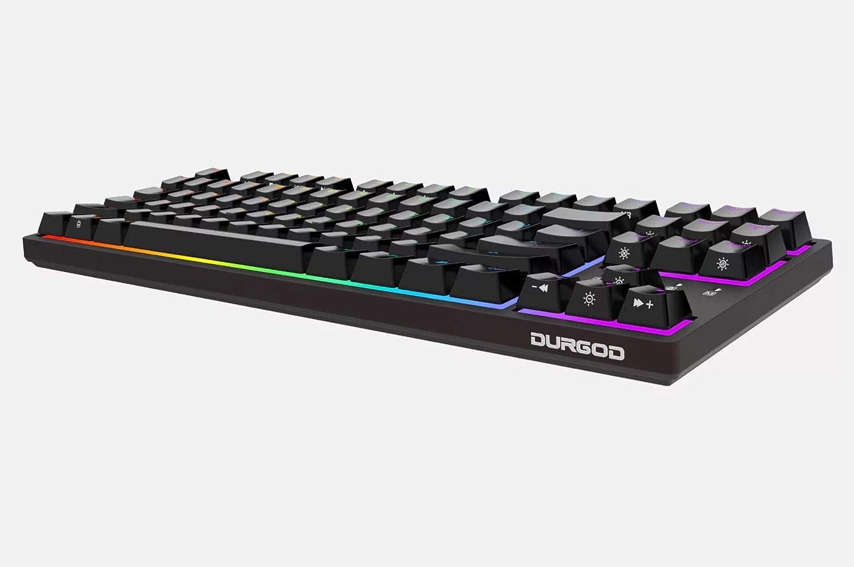Cherry Silent Red, Space Grey 87 Keys Double Shot PBT Durgod Taurus K320 TKL Mechanical Gaming Keyboard USB Type C NKRO