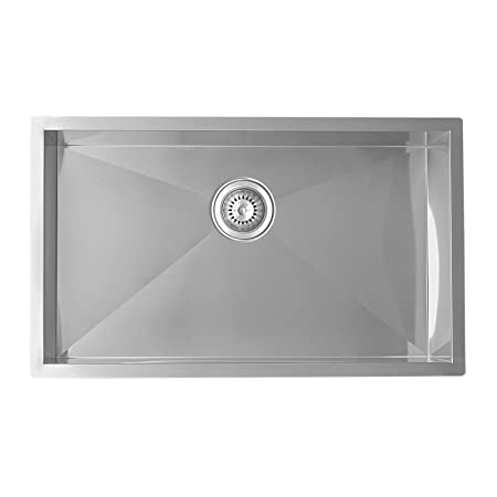 Enki Large Kitchen Sink Stainless Steel 1 One Single Bowl