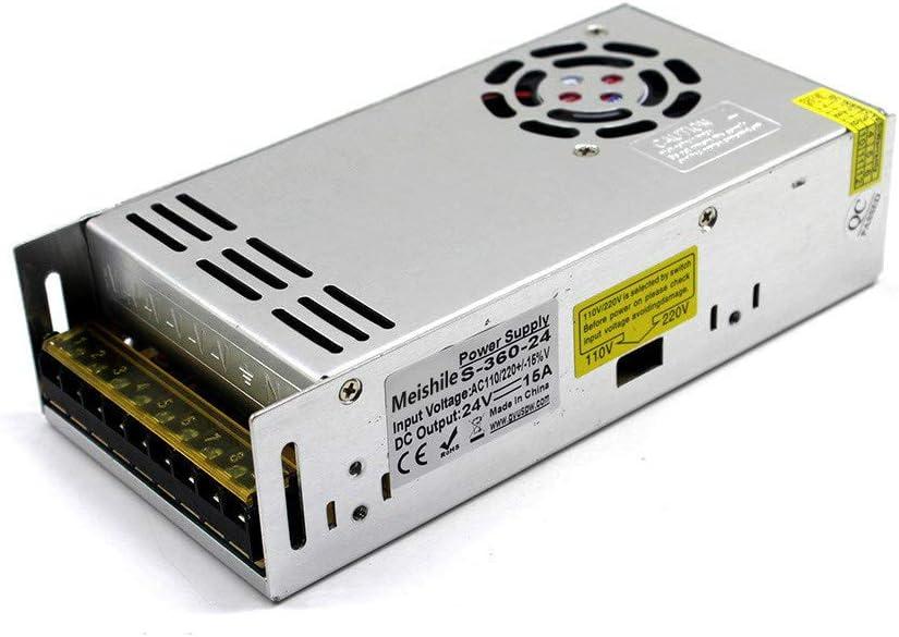24V 15A 360W Fuente De Alimentación Conmutada 110V/220VAC-DC24V Transformador convertidor para la vigilancia de Circuito Cerrado de televisión Impresora 3D LED de Automatización Industrial