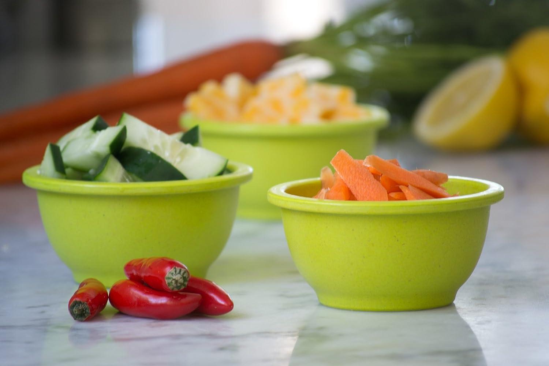 Set of 3 Small HPREP3R Homegrown Gourmet Harvest Prep Bowl