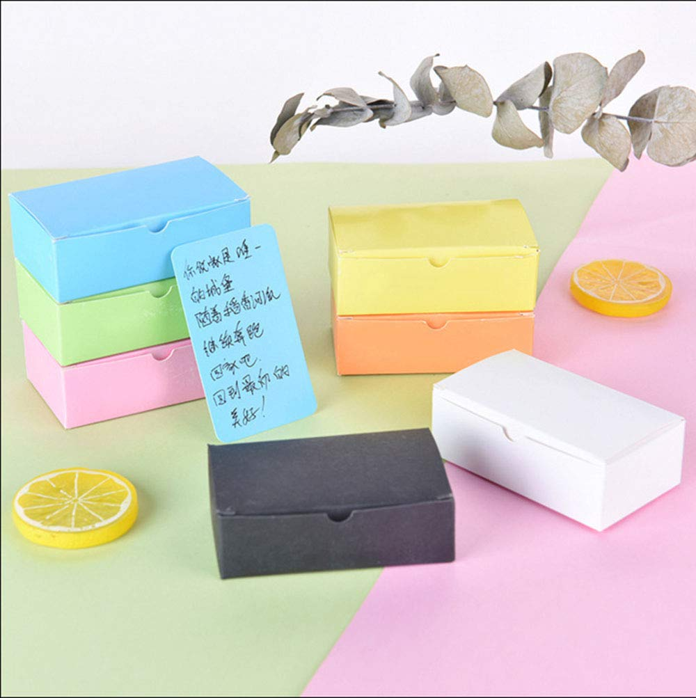 RIANCY Variety Color Blank Card Leave Message Business Cards Sketch Word Card DIY Gift Card 100 Sheets/Pad Set of 6 (Pack of 6)