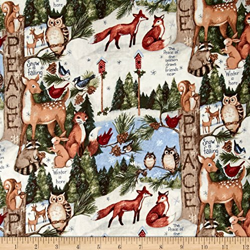 Springs Creative Products 0439643 Susan Winget Old World Christmas Woodland Thoughts Fabric by The Yard, Multi