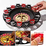 Drinking Roulette Set Shot Glass Roulette Novelty Drinking Game With 16 Shot Glasses