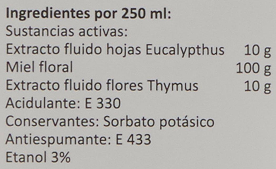LIPTOMIEL jarabe 250 ml a base de eucalipto, tomillo y miel. Suaviza la garganta y alivia la tos: Amazon.es: Salud y cuidado personal