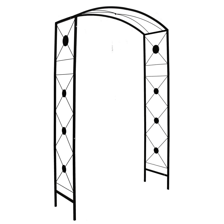 Better Garden Steel Garden Arch, 7'6'' High x 4'7'' Wide, Garden Arbor for Various Climbing Plant, Outdoor Garden Lawn Backyard
