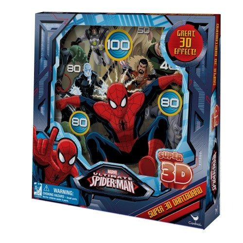 Marvel Ultimate Spiderman Super 3D Dartboard by Cardinal