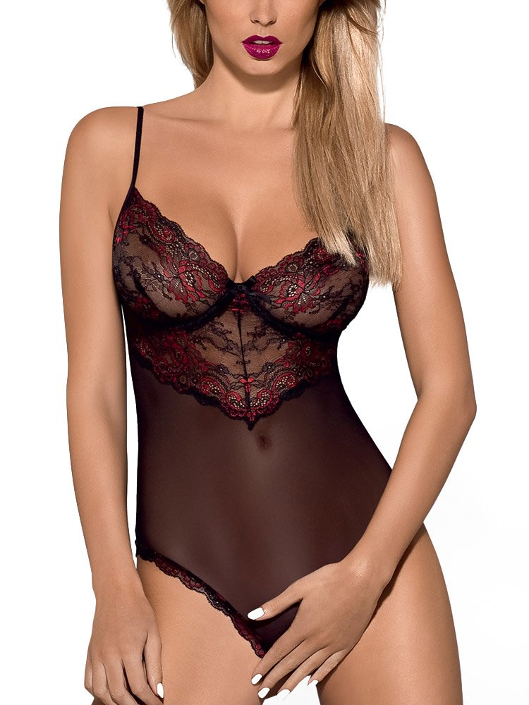 Obsessive Musca Teddy, L/XL, Nero-Bordeaux 5691_18623