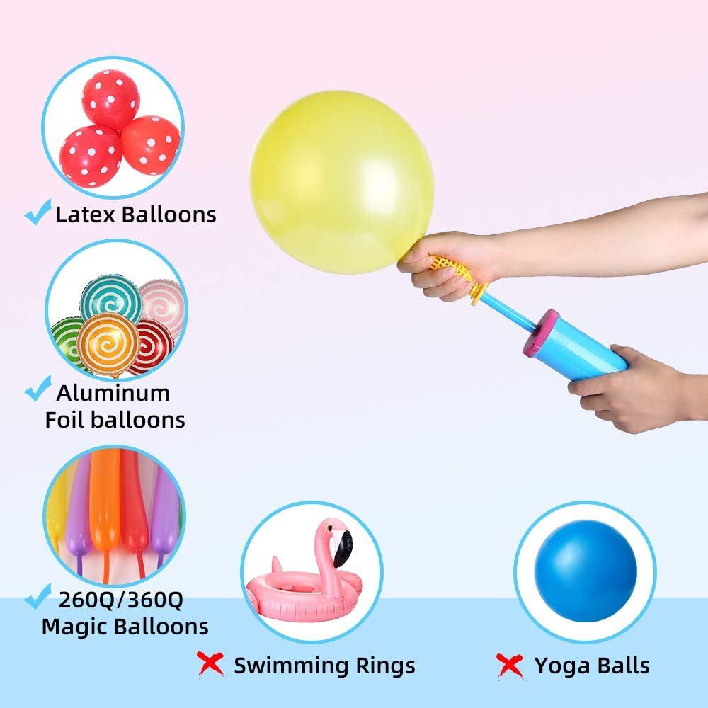 bomba manual inflado de globos