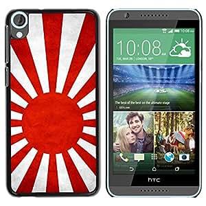 TopCaseStore / la caja del caucho duro de la cubierta de protección de la piel - Japanese Naval Ensign Grunge Flag - HTC Desire 820