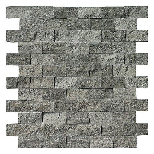 Art3d Natural Stone Mosaic Tile for Kitchen Backsplashes or Exterior Decoration (4 Pack)